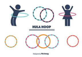 Hula Hoop Vector Set