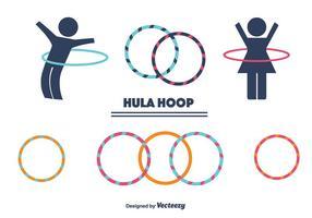 Ensemble de vecteur Hula Hoop