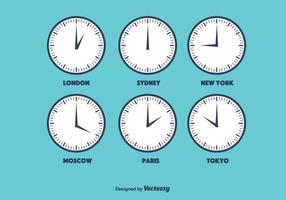 Vector de zona horaria