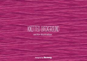 Pink Knitted Background Vector
