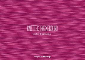 Vecteur de fond en tricot rose