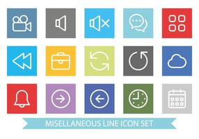 Flat och Clean Miscellaneous Icon Set