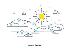 Cielo nublado vector