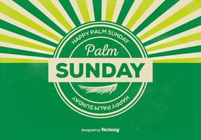 Retro Palm Sunday Illustration