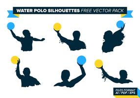 Water polo silhouettes free vector pack