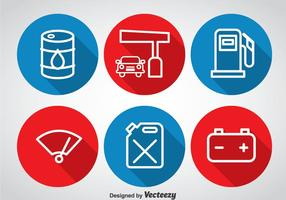 Gas-Pumpenkreis-Icons vektor
