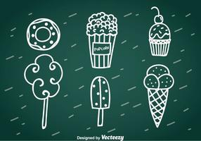 Sweet Snack Hand Drawn Vector