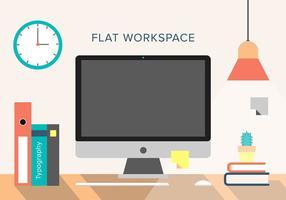 Espacio de trabajo libre del vector