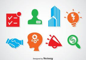 Iconos de colores de Enterpreneurship vector