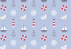 Gratis Nautical Pattern Vector