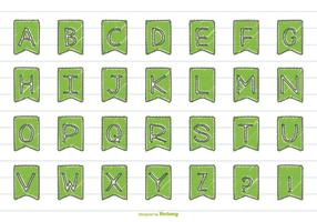 Cute Hand Drawn Style Alphabet Set