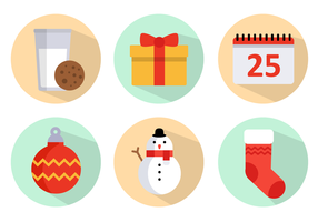 Pack gratuit de vecteur icônes de Noël