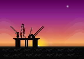 Offshore Zonsopgang Illustratie