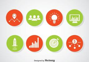 Entrepreneurship Circle Icons Vector