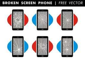 Broken Screen Phone Free Vector