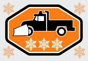 Free Snow Plough Truck Vector