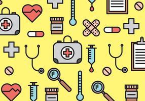 Elementos médicos vector patrón