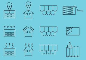 Roof Repair Icons vector