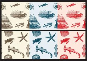 Nautica Toile Fabric Patterns