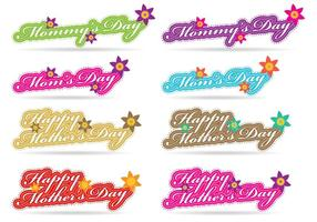 Mothers Day Titles vector