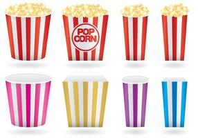 Popcorn-Boxen vektor