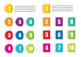Colorful Bullet Points vector