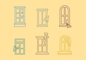 Free Broken Windows Vector 01