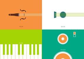 Minimal musikinstrumentvektorer