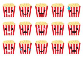 Emoticons de boîte de pop-corn