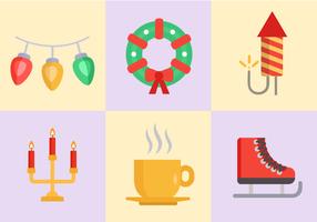 Vecteur libre d'icônes de Noël