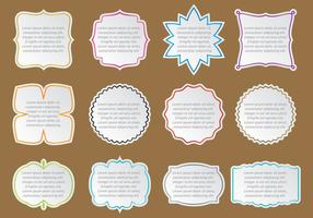 Text Box Stickers vector