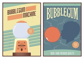 Affiche de gomme à bulles