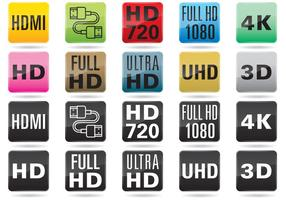 TV Resolution Buttons