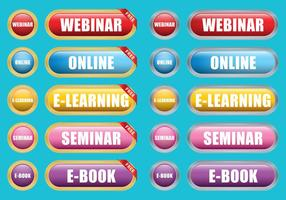 E Learning Buttons vector