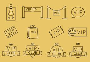 VIP Line Icons vector