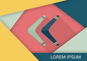 Free Boomerang Flat Icon Vector