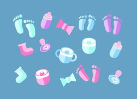 Vetor livre de elementos de bebê deco