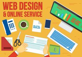 Free Online service Vector Workplace