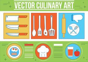 Arte culinario del vector libre