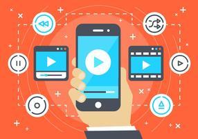 Gratis platt digital media vektor bakgrund