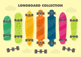 Libre Longboard vector de fondo