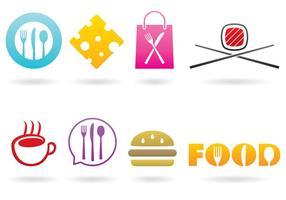 Vectores de la marca de alimentos