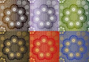 Set Spitzen Textur Vektoren