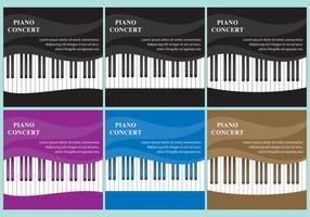 Wellenförmige Klavier Vektoren