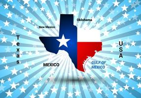 Texas Map Vector gratuito