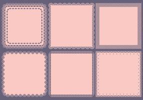 Marcos cuadrados de la vendimia