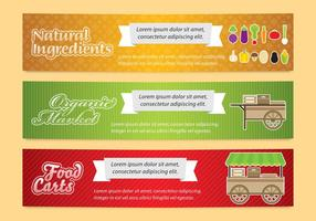 Food Cart Banners vector