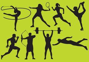 Olympische Spiele Silhouette Vektoren