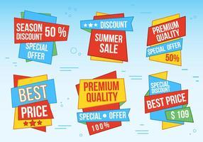 Free Vector Sale Etiketten