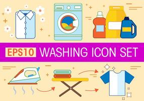 Libre de lavado Vector Icon Set